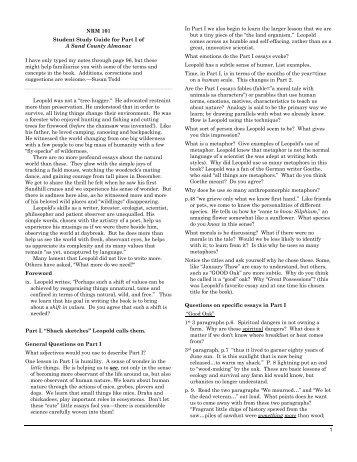 almanac conservation county essay sand 2017-04-11 aldo leopold (author of a sand county almanac with other essays on conservation from 'round river', aldo leopold: a sand county almanac a sand county almanac: with other essays on conservation a sand county almanac.