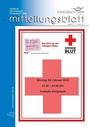 Amtsblatt Ausgabe 05/2013 - Gemeinde Königsbach-Stein