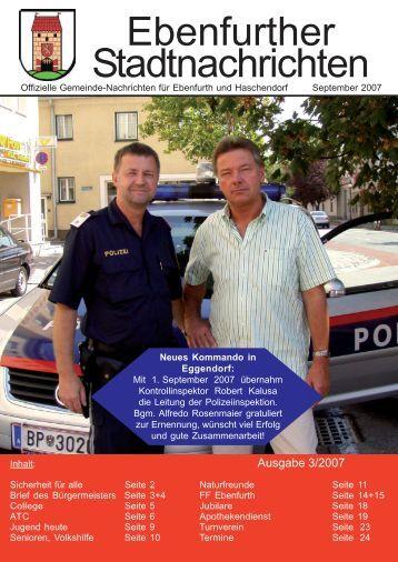 Ebenfurther Stadtnachrichten - Stadtgemeinde Ebenfurth