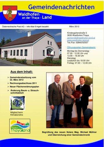 (3,56 MB) - .PDF - Waidhofen an der Thaya-Land