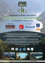 Hydro 2013 - International Journal on Hydropower and Dams