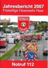 Jahresbericht 2007 - Freiwillige Feuerwehr Haar