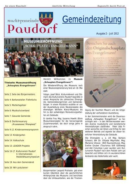 Paudorf als single - Viktring singlebrsen - Neu leute