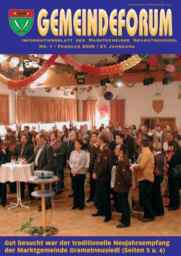 Gemeindeforum 1/05 (0 bytes) - Marktgemeinde Gramatneusiedl
