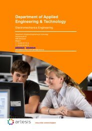Department of Applied Engineering & Technology - Artesis ...