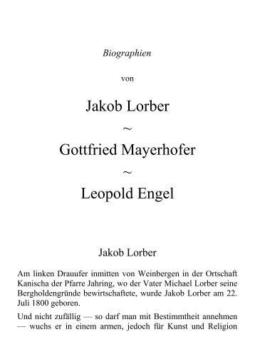 Jakob Lorber ~ Gottfried Mayerhofer ~ Leopold Engel - Offenbarung