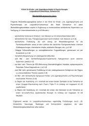 curricularer Weiterbildungsplan - Klinikfinder.de
