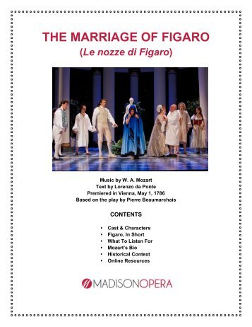 The Marriage of Figaro guide - Madison Opera