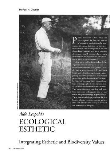 "Aldo Leopold's ""Ecological Esthetic"": Integrating Esthetic and ..."