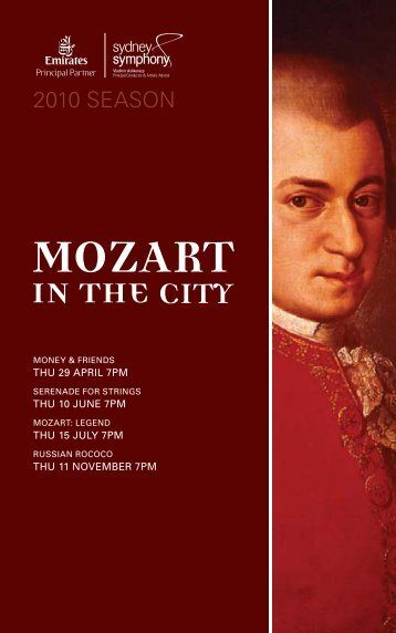 Download the Mozart in the City program book - Sydney Symphony ...