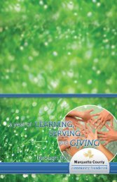 2010 Annual Report - Marquette County Community Foundation