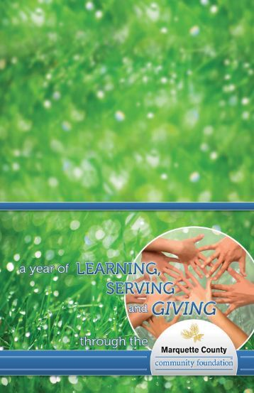 2010 Annual Report - Marquette County Community Foundation