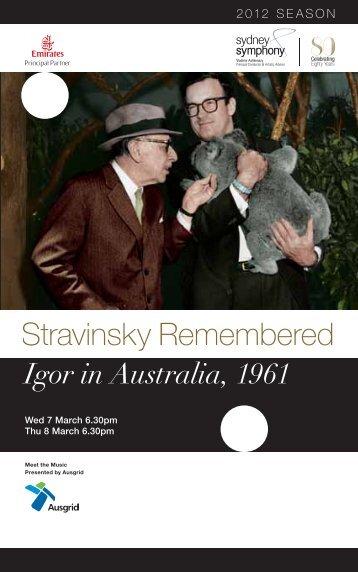 Stravinsky Remembered - Sydney Symphony Orchestra
