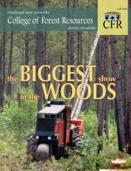 Fall 2006 - College of Forest Resources - Mississippi State University