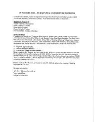 Committee Minutes, March 19, 2012 - Village of Swansea