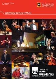 Celebrating 25 Years of Music - The University of Waikato