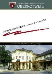 Imagebroschüre - Winzerverein Oberrotweil e.G.
