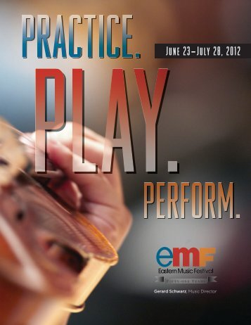 2012 Student catalog - Eastern Music Festival