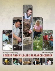 Annual Report - Forest and Wildlife Research Center - Mississippi ...