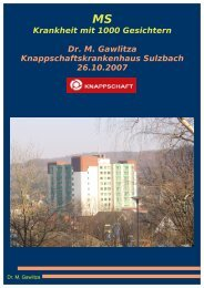 Krankheit mit 1000 Gesichtern Dr. M. Gawlitza ... - Dr. Michael Gawlitza