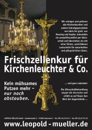 Frischzellenkur für Kirchenleuchter & Co. - Müller Lack
