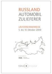 RUSSLAND AUTOMOBIL ZULIEFERER