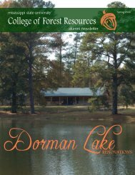 Spring 2008 - College of Forest Resources - Mississippi State ...