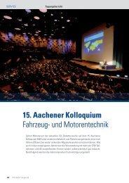 15. Aachener Kolloquium Fahrzeug- und Motorentechnik
