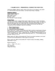 Committee Minutes, March 5, 2012 - Village of Swansea
