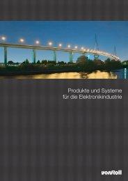 Produkte und Systeme für die Elektronikindustrie - Von Roll