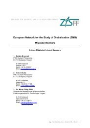 European Network for the Study of Globalisation (ENG) - ZIS-FF