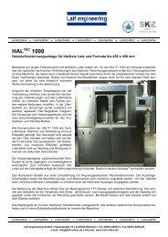 Heissluftverzinnungsanlage für bleifreie Lote und Formate bis 450 x ...