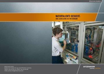 NATURTALENTE GESUCHT: - Witzenmann GmbH