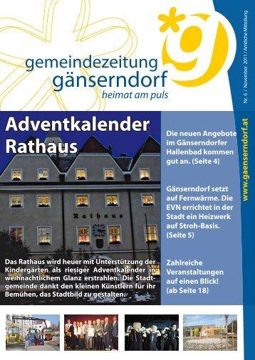 Ausgabe 2011/6 - Stadtgemeinde Gänserndorf