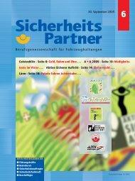 Ausgabe 06/2005 - Berufsgenossenschaft für Transport und ...