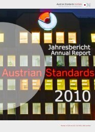 Jahresbericht Annual Report 2010 Austrian Standards Institute
