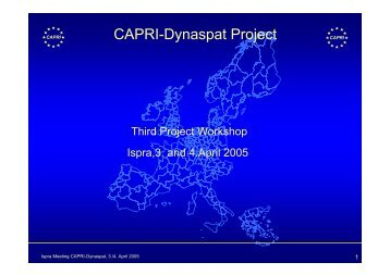 CAPRI-Dynaspat Project