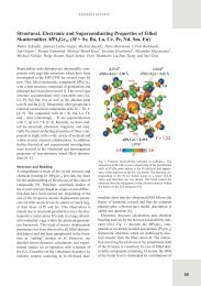 Structural, Electronic and Superconducting Properties of Filled ...