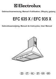 Gebrauchsanweisung, Manuel d'utilisation - the Electrolux User ...