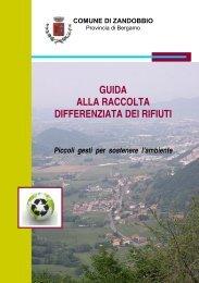 Guida alla raccolta differenziata dei rifiuti - Comune di Zandobbio