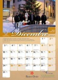 calendario dicembre 2012 - Comune di Veduggio con Colzano