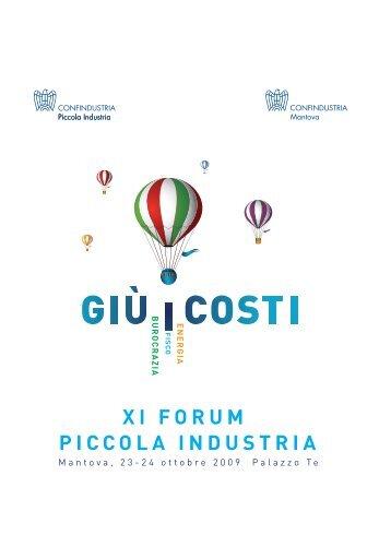 volume XI Forum Piccola Industria - Mantova 2009 - Confindustria
