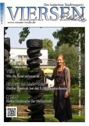 Viersen inside/Kultur-macht 4-2012 - Iris Kater Verlag & Medien GmbH