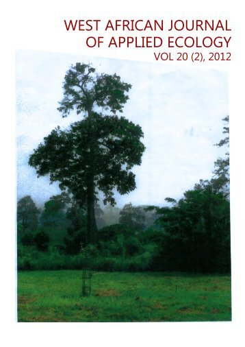 west african journal of applied ecology - University of Ghana