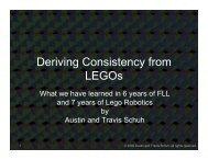 Deriving Consistency from LEGOs - Los Altos Robotics