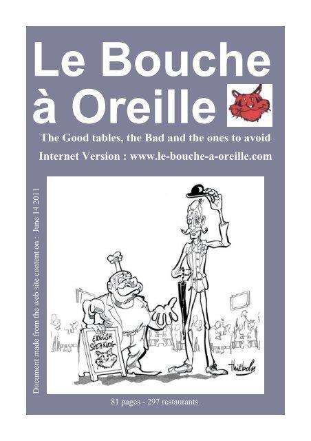 Le Bouche à Orielle En Pdf Le Bouche à Oreille