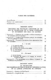 TABLE DES MATIERES - Index of