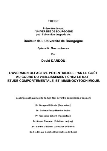 THESE Docteur de L'Université de Bourgogne David ... - TEL