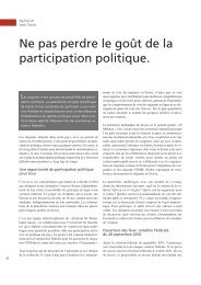 Ne pas perdre le goût de la participation politique. - terra cognita