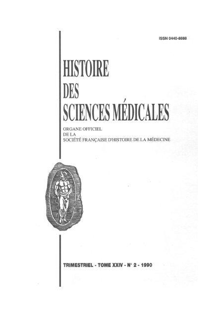 histoire des sciences medicales - Bibliothèque interuniversitaire santé